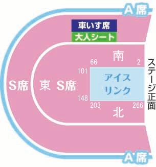 ディズニーオンアイス2019大阪公演座席表