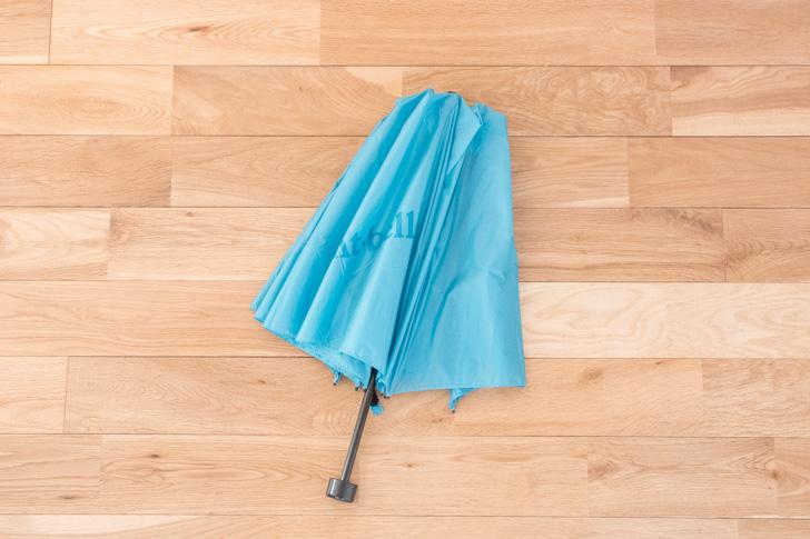 傘を閉じたところ