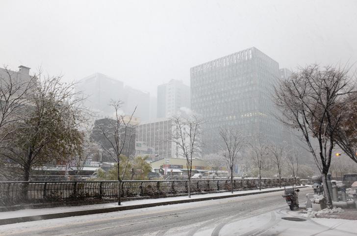 ソウルの雪