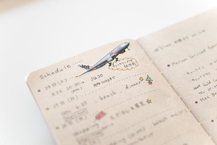 旅の予定表
