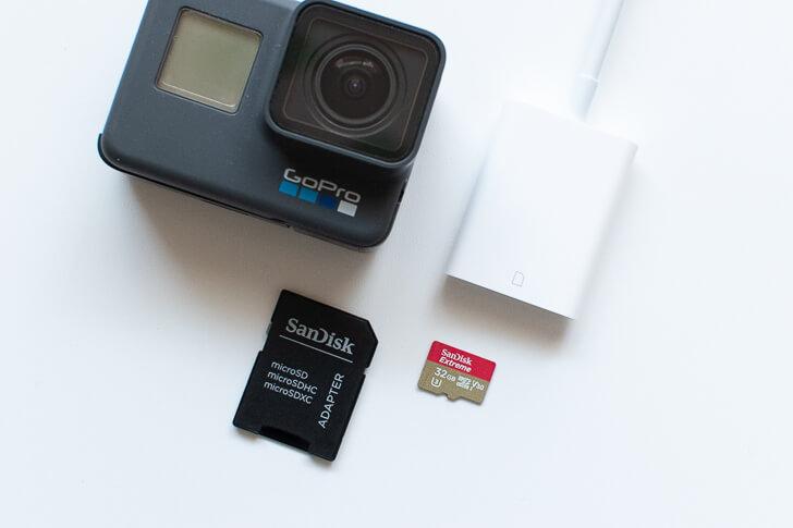 GoProとSDカードカメラリーダー