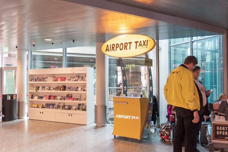 エアポートタクシーのカウンター