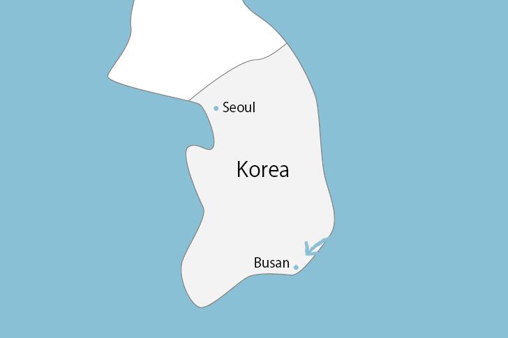 釜山の場所
