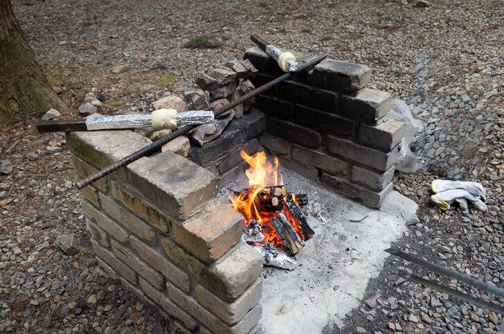 森のひととき 焚き火