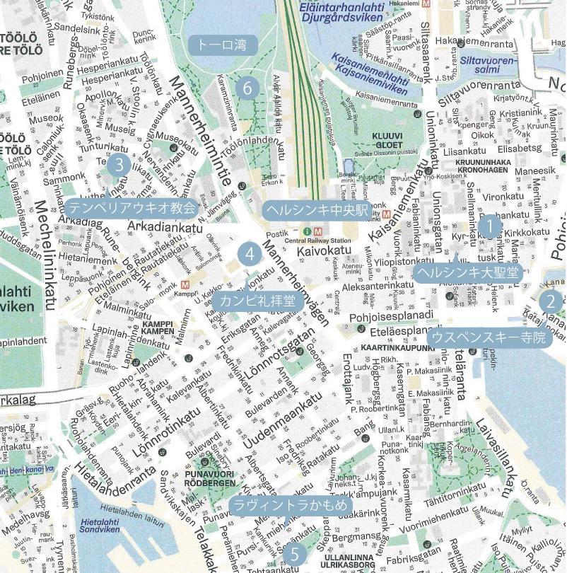 ヘルシンキの遊び場MAP