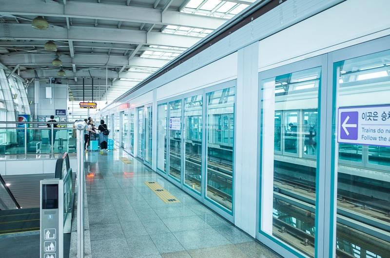 釜山駅のホーム