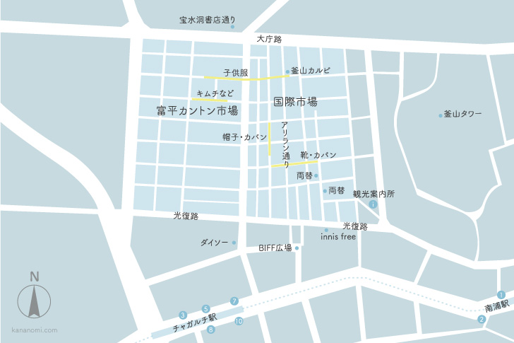 国際市場の地図
