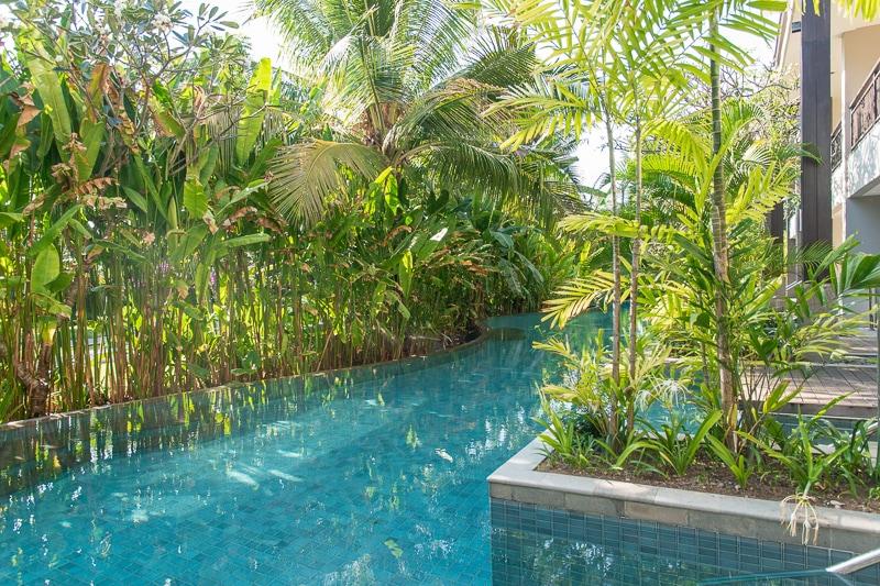 サワンガンジュニアスイート 部屋前のプール