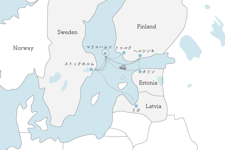 タリンクシリヤラインの航路