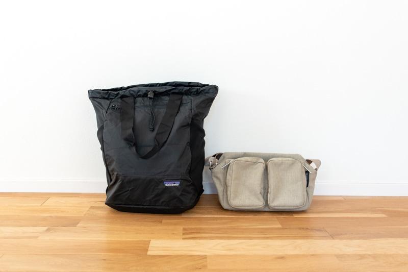 機内持ち込み荷物のバッグ