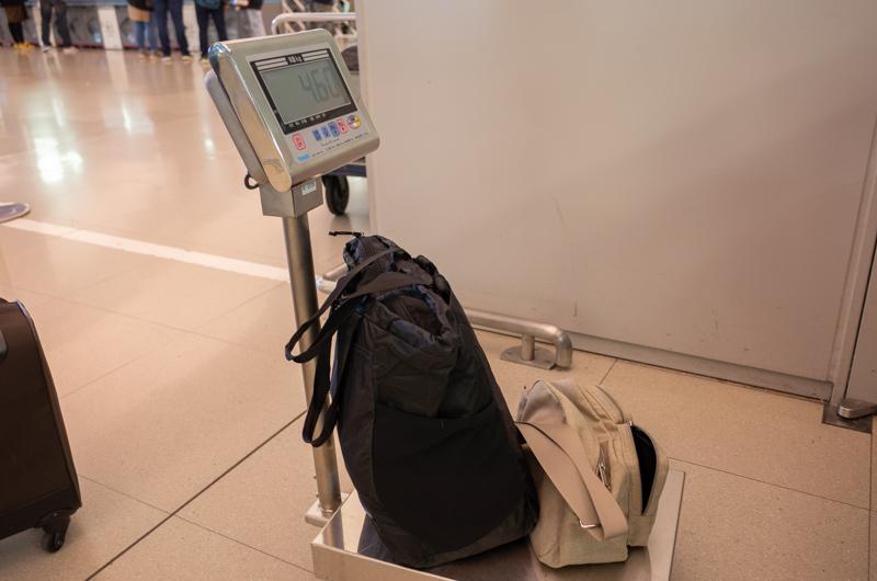 機内持ち込み手荷物の計測