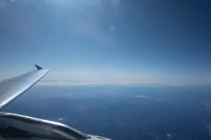 エアプサンの窓から見た景色
