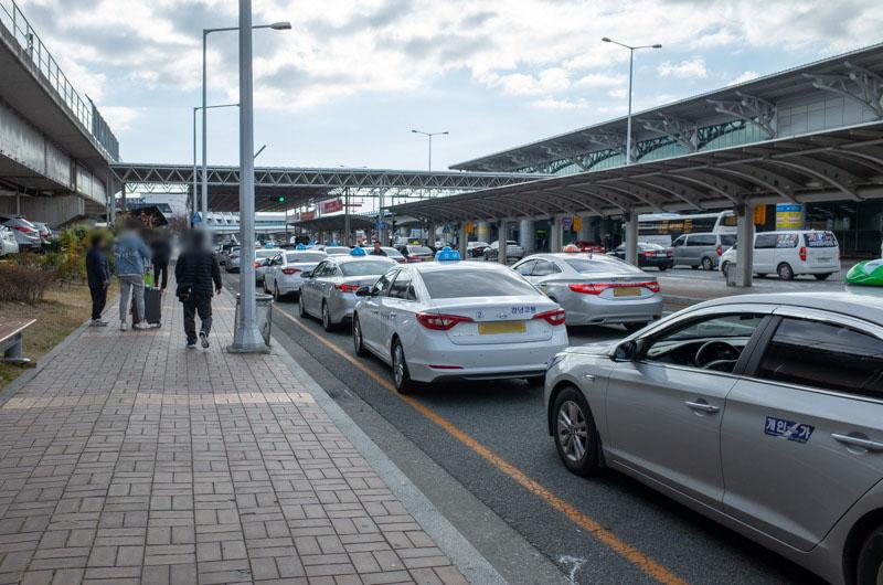 金海空港のタクシー乗り場