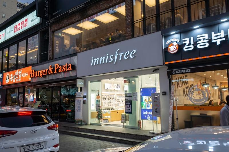 イニスフリーの店舗