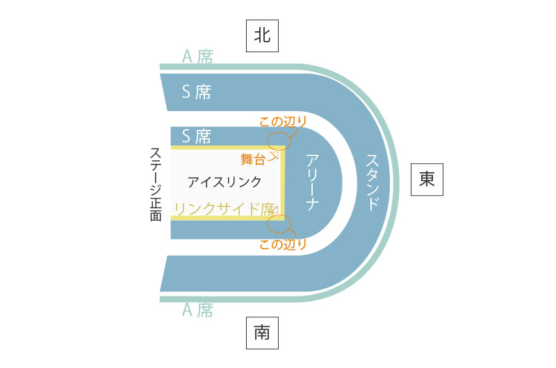 ディズニーオンアイス 大阪公演 座席表