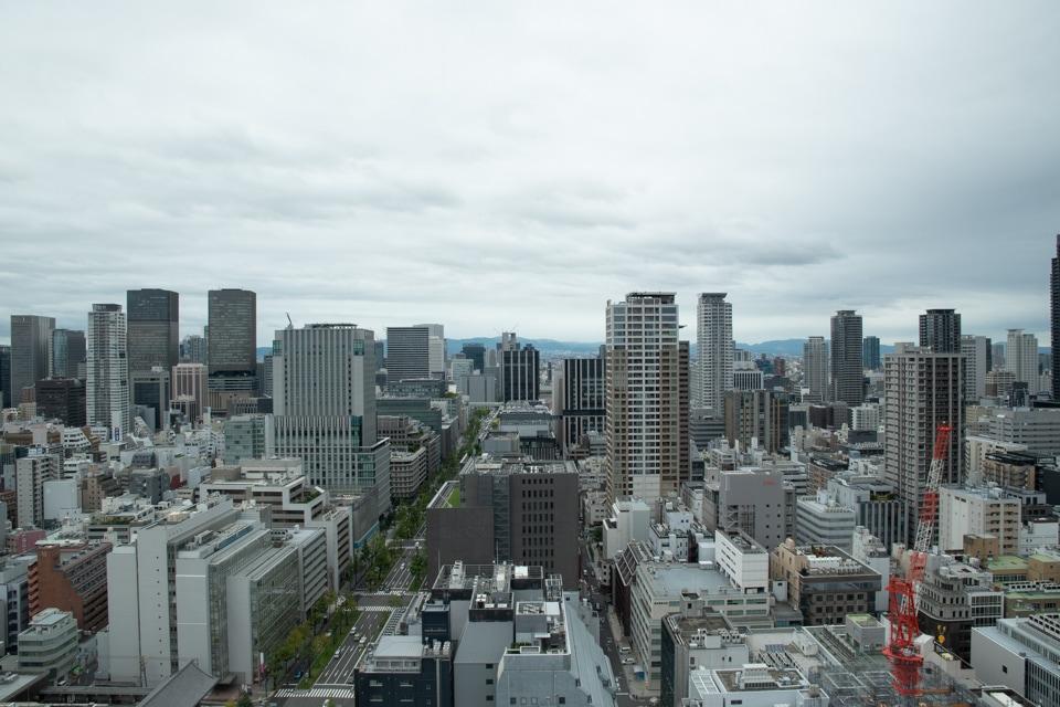 セントレジス大阪 窓からの景色