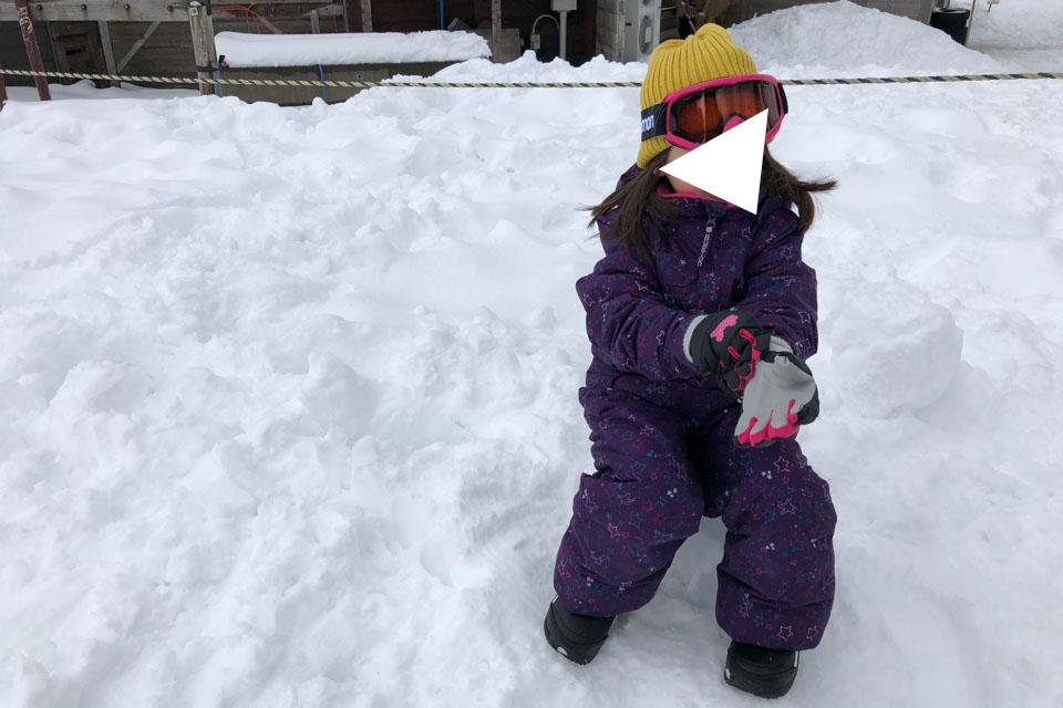 雪遊びの服装