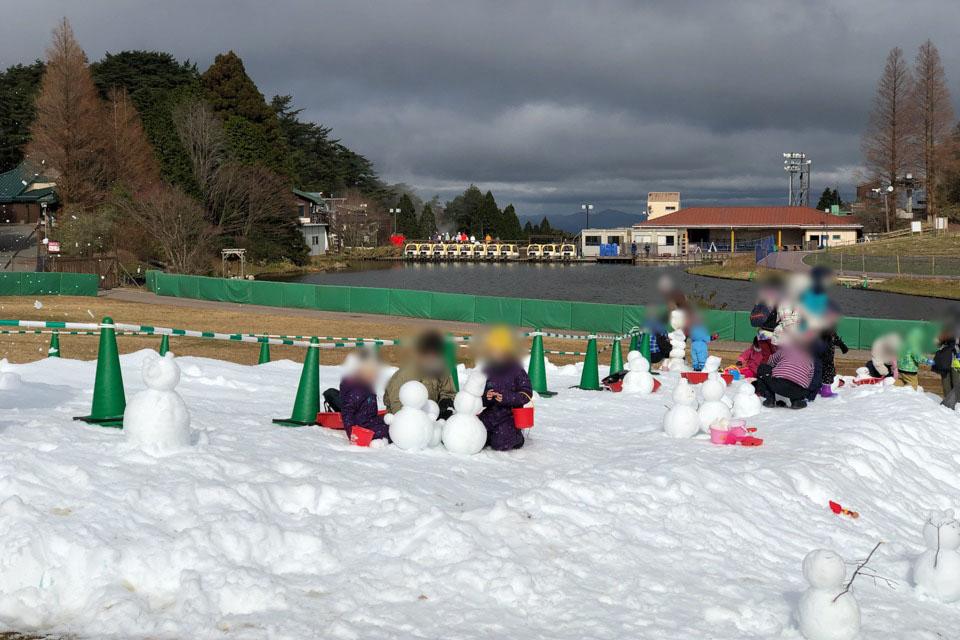 雪遊びエリア