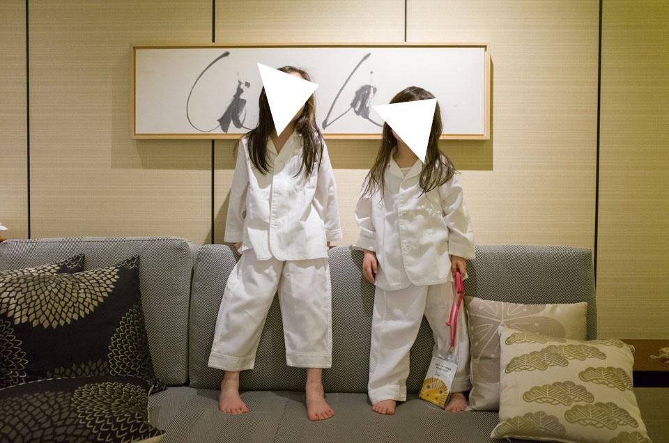 子供用パジャマのサイズ感